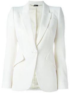 Wool Grain De Poudre Jacket, Ivory
