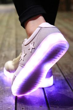 neon led sneakers