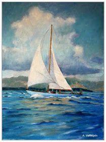 Pintura Militar y Naval: Marinas al óleo de barcos de vela clásicos