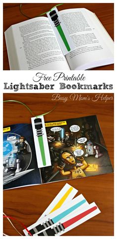 Star Wars Lightsaber Bookmarks - Printable Star Wars - Ideas of Printable Star Wars - Star Wars Lightsaber Bookmarks / by Busy Mom's Helper / Free Printable for May the Fourth