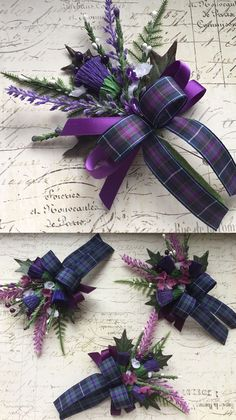 Scottish Thistle and Tartan Wedding Button Holes | Guides for Brides | guidesforbrides.co.uk #WeddingIdeasForMen