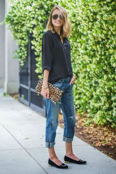 Add a leopard clutch to most any outfit to add interest! See. more at www.HerStyledView.com