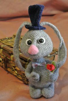 Rabbit gray. Soft toy. Handmade. Amigurumi. by VintageVilageShop