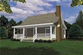 Click on Picture for Complete Info 800 SQ FT PROBABLY THE MOST COMMONLY VIEWED SMALL HOUSE PLAN ON THE PLANET. CLASSIC FARM HOUSE WITH FULL LENGTH FRONT PORCH