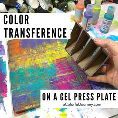 How do you get those gel prints with little bits of color here and there that give a print the wow factor and do it in one pull? By color transference - see how in the video by Carolyn Dube