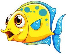 The Limited Clip Art Fish Nextreflexdc Com awesome Coloring Pages ideas Cartoon Sea Animals, Cartoon Fish, Cute Animals, Cartoon Monkey, Painting For Kids, Drawing For Kids, Fisher, Clipart Black And White, Cartoon Design