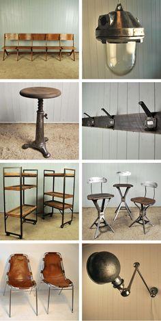 reclaimed vintage industrial furniture