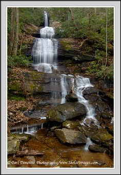 Been here and you can swim and hike on these rocks.  Desoto Falls Scenic Area near Helen, GA