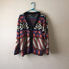 Fun sweater✨ Fun patterns, great colors! Bright up your day with a warm cozy sweater! Button down in the front, fits great and has no flaws! Forever 21 Sweaters Cardigans