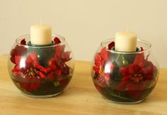 Christmas Tabletop Wonderment Centerpiece : Set of 2 // Winter Wedding Centerpiece // Unique Wedding Favors // Holiday Tabletop Decorations. $35.00, via Etsy.