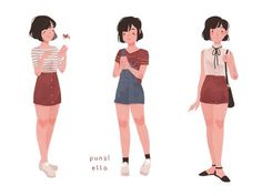 -sad and delicate children- Amazing Drawings, Cute Drawings, Cute Illustration, Character Illustration, Pretty Art, Cute Art, Character Design References, Character Art, Punziella