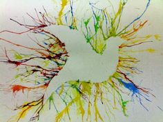 Blow paint outline