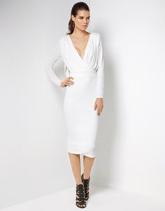 7a306790e006 Buy Hedonia Drape Back Midi Dress With Wrap Bust from the Next UK online  shop
