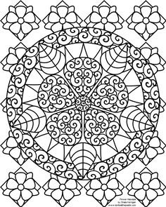 Don't Eat the Paste: Mandalas-coloring pages