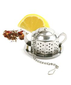 Teapot-Shape Infuser & Tray