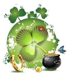 st patrick - Page 9 Good Luck Clover, Gifs, Money Spells, Rose Wallpaper, Emoticon, Pretty Pictures, St Patricks Day, Smiley, Ladybug