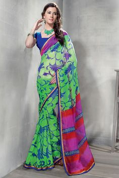 Latest Awesome casual printed saree Online