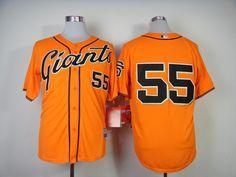 MLB san francisco giants 55 Lincecum in orage 2014 jerseys
