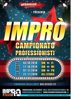 Contest #teatrale #impro  sfida Roma - Padova il 7 novembre #teatro