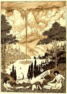 """Sidney Sime - Pegana (1911)From Lord Dunsany's """"The Gods of Pegana"""" (1911)"""