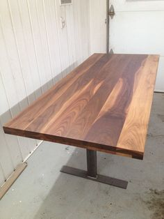 Black walnut dining room table