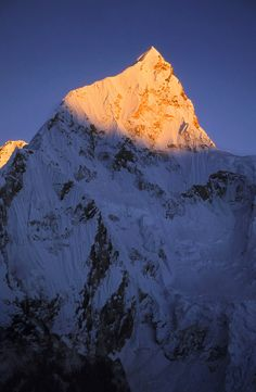 Himalayan Light by Michael Bollino, via 500px; Summit pyramid of Nuptse; Khumbu Valley, Nepal