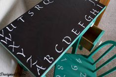 Add interest to a blah kids' desk with chalkboard paint.