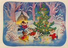 Bilderesultat for советские новогодние открытки