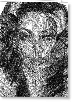 Facial Expressions Greeting Card by Rafael Salazar