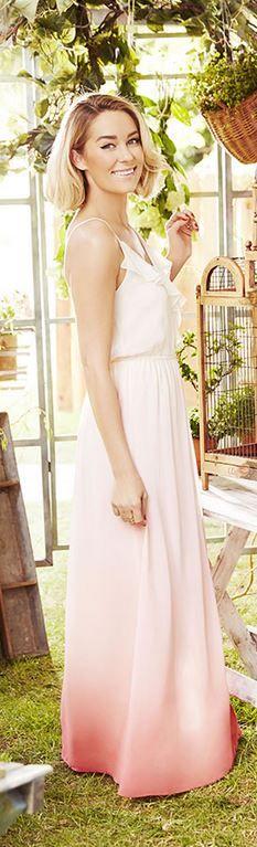 f935a566f16 Who made Lauren Conrad s pink ombre maxi dress  Ombre Maxi Dress