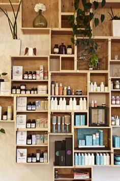 Get Creative with your Product Wall! | 13 Original Salon Decorating Ideas on www.salonmagazine.ca | Click for more #salon #decorating #ideas