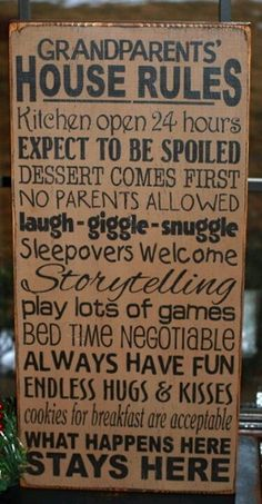 Grandma House Rules