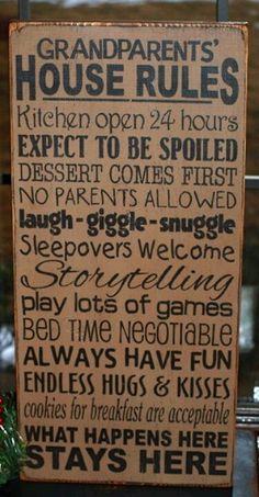 Grandma House Rules