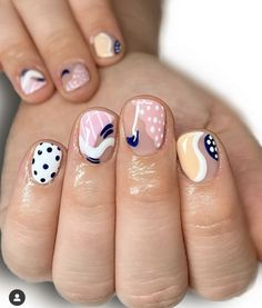 Simple Acrylic Nails, Best Acrylic Nails, Simple Nails, Funky Nails, Cute Nails, Pretty Nails, Nail Manicure, Gel Nails, Girls Nail Designs