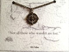 Not all those who wander are lost Compass Charm - Lord of the Rings