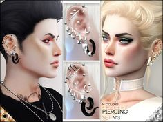 The Sims Resource: Piercing Set N13 by Pralinesims • Sims 4 Downloads
