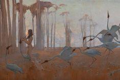 Spirit of the Plains (1897) by Sydney Long