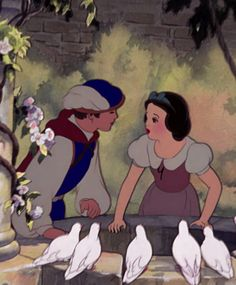 Screencap Gallery for Snow White and the Seven Dwarfs Bluray, Disney Classics). A beautiful girl, Snow White, takes refuge in the forest in the house of seven dwarfs to hide from her stepmother, the wicked Queen. Snow White 1937, Snow White Prince, Snow White Seven Dwarfs, Walt Disney, Disney Love, Disney Art, Disney Magic, Pinturas Disney, Snow White Disney