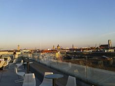 Cafe on the rooftop of the technological university ( TU ) of munich