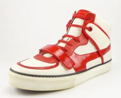 LOUIS VUITTON sz 10 TOWER LEATHER SNEAKERS GO0120 MENS WHITE/RED fits US 11 $695