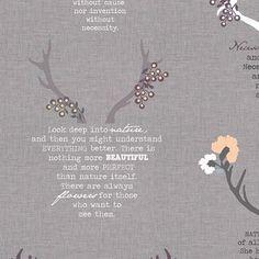 Blithe Eternal Nature GreyLinen Blend 150cm - Fabric HQ