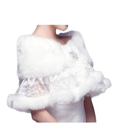Bridal Wraps Lace Faux Fur Shawl Bridal Bolero Wedding Jacket Winter Wedding Coat | Winter Wedding Ideas * Want additional info? Click on the image. (This is an affiliate link) #WinterWeddingIdeas