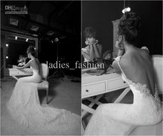 Wholesale Mermaid Wedding Dresses - Buy Luxury Mermaid Lace Wedding Dresses Backless Bridal Gown Pearls Spaghetti Straps Crystals Beaded Applique Cathedral Train Sexy Custom Made, $159.0 | DHgate