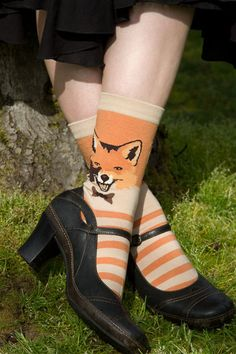 Sock Dreams - Mr. Fox Crew - Unique Colorful Socks