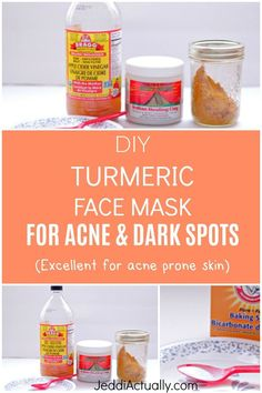 The Best DIY Face Mask For Removing Acne & Dark Spots Are you looking for home remedies for acne? If you are trying to get rid of dark marks on your skin and acne without using harsh chamicals, Try this chemical free turmeric face mask that works for acne Masque Facial Diy, Diy Masque, Facial Masks, Facial Scrubs, Acne Dark Spots, Dark Spots On Face, Dark Marks On Face, Brown Spots, Best Diy Face Mask