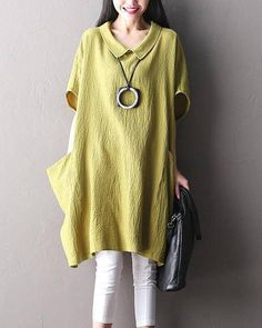 Loose Fitting Cotton Shirt Blouse for Women   Women Top