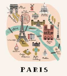 Paris Print by Anna Bond
