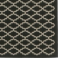 Safi Indoor/Outdoor Rug - Black - Ballard Designs