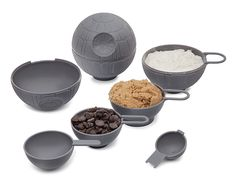 Star Wars Death Star Measuring Cups $14.99. Really?? Merchandising gone wild. I've seen makeup for Star Wars, Toasters but measuring cups?  Who was the Merchandising Manager who decided this?  I'm sure they will sell. Just a comment on our society.