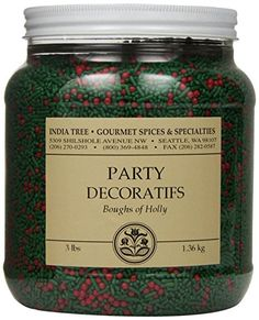 India Tree Boughs of Holly Party Decoratifs, 3 lb -- Haven& you heard that you can find more discounts at this image link : baking desserts recipes No Bake Desserts, Dessert Recipes, Baking Desserts, Frosting, Icing, Gourmet Cookies, Sweet Notes, Spices, Canning
